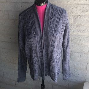 Pink Rose Blue Soft Sweater/Cardigan Large